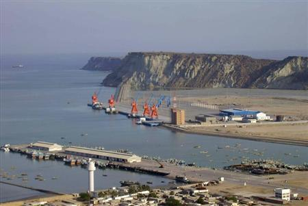 A general view of Pakistan's Gwadar deep-sea port on the Arabian Sea March 19, 2007. REUTERS/Qadir Baloch