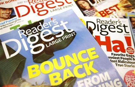 Copies of the Reader's Digest magazines are seen in Port Washington, New York, August 18, 2009. REUTERS/Shannon Stapleton