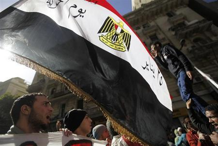 A protester, who opposes Egyptian President Mohamed Mursi, shout slogans against Mursi and members of the Muslim Brotherhood at Tahrir Square in Cairo February 15, 2013. REUTERS/Amr Abdallah Dalsh