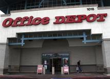 An Office Depot store front is shown in Encinitas, California February 28, 2012. Office Depot will report earnings this week. REUTERS/ Mike Blake