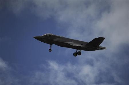 A F-35B Lightning II joint strike fighter from the Marine Fighter Attack Training Squadron 501 prepares to land at Eglin Air Force Base, Florida, in this September 18, 2012 handout photo courtesy of the U.S. Marine Corps. REUTERS/U.S. Air Force/Master Sgt. Jeremy T. Lock/Handout