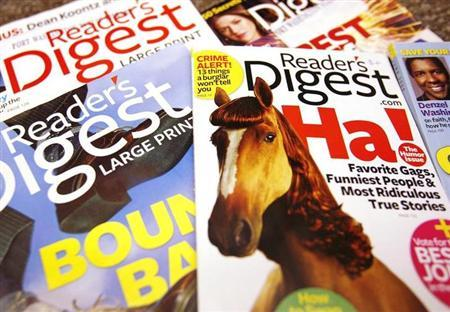 Copies of the Reader's Digest magazines are seen in Port Washington, New York, August 18, 2009. REUTERS/Shannon Stapleton/Files