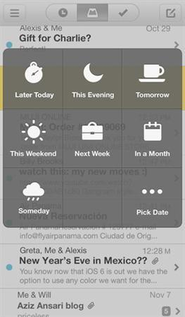 Screenshot of the new ''Mailbox'' app obtained on February 19, 2013. REUTERS/Handout