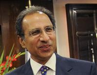 Pakistan's Finance Minister Abdul Hafeez Shaikh is seen in Islamabad in this September 8, 2011 file photograph. Shaikh resigned on February 19, 2013, two officials said, amid speculation that he may take a position in a caretaker government that must be set up before a parliamentary election scheduled for this spring. REUTERS/Stringer/Files