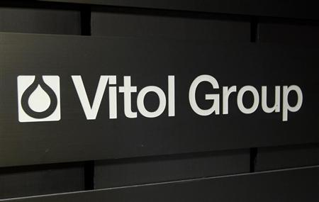 A sign is pictured in front of the Vitol Group trading commodities building in Geneva Oct. 4, 2011. REUTERS/Denis Balibouse