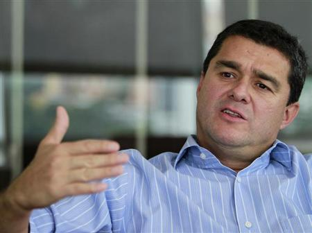 Bancolombia CEO Carlos Raul Yepes speaks during an interview in Medellin May 26, 2012. REUTERS/ Albeiro Lopera