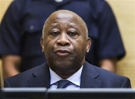 Former Ivory Coast President Laurent Gbagbo attends a confirmation of charges hearing in his pre-trial at the International Criminal Court in The Hague February 19, 2013. Gbagbo is charged with crimes against humanity committed during the 2011 civil war sparked by his refusal to accept the election victory of rival Alassane Ouattara. REUTERS/ Michael Kooren