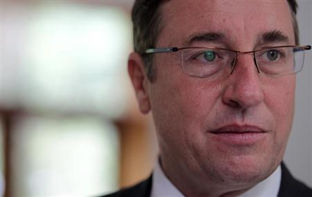 United Nations Environment Programme (UNEP) Executive Director Achim Steiner is pictured after a news conference on ''Rio +20'', a United Nations conference on sustainable development, in Rio de Janeiro April 16, 2012. REUTERS/Sergio Moraes