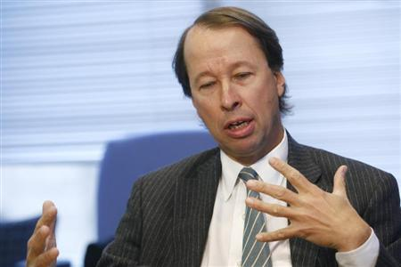 Tony James, President of the Blackstone Group, speaks during the Reuters Investment Banking Summit in New York, November 14, 2006. REUTERS/Keith Bedford