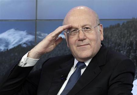 Lebanon's Prime Minister Najib Mikati attends the annual meeting of the World Economic Forum (WEF) in Davos January 25, 2013. EUTERS/Denis Balibouse