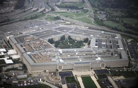 Aerial view of the United States military headquarters, the Pentagon, September 28, 2008. REUTERS/Jason Reed/Files