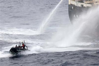 Protesters clash with Japanese whalers, call for naval...