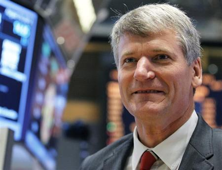 Manchester United's David Gill gives an interview following Manchester United Ltd initial public offering on the floor of the New York Stock Exchange, August 10, 2012. REUTERS/Brendan McDermid
