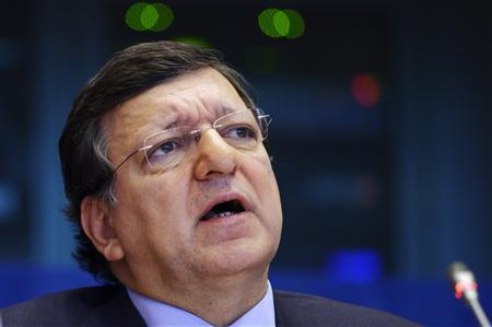 European Commission President Jose Manuel Barroso attends a debate on the EU's long-term budget at the EU parliament in Brussels February 18, 2013. REUTERS/Eric Vidal
