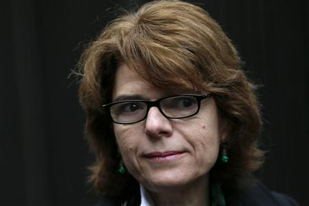 Vicky Pryce, the ex-wife of Britain's former energy secretary Chris Huhne, arrives at Southwark Crown Court in London February 20, 2013. REUTERS/Stefan Wermuth