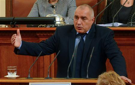 Bulgarian Prime Minister Boiko Borisov speaks in the Parliament in Sofia February 20, 2013. REUTERS/Julia Lazarova