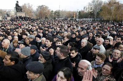 Thousands protest in Armenia after president re-electe...