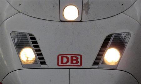 The logo of German railways Deutsche Bahn (DB). REUTERS/Michael Dalder