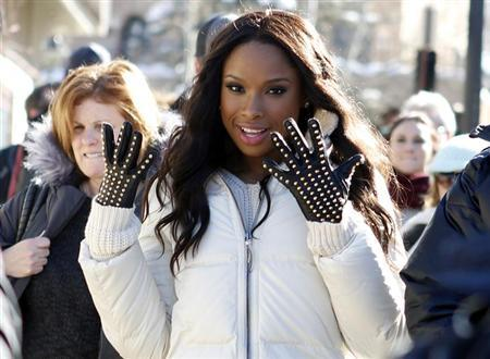 Recording artist and actress Jennifer Hudson makes her way along Main Street during the Sundance Film Festival in Park City, Utah, January 18, 2013. REUTERS/Jim Urquhart/Files