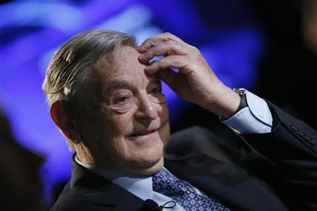 Billionaire investor George Soros of Soros Fund Management attends the annual meeting of the World Economic Forum (WEF) in Davos January 26, 2013. REUTERS/Pascal Lauener