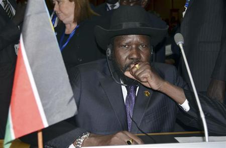 South Sudan's President Salva Kiir attends the opening ceremony of the 20th Ordinary Session of the Assembly of Heads of State and Governments at the African Union (AU) headquarters in the Ethiopian capital Addis Ababa January 27, 2013. REUTERS/Tiksa Negeri