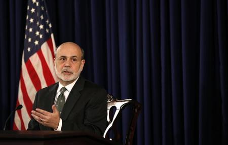 U.S. Federal Reserve Chairman Ben Bernanke speaks during a news conference in Washington December 12, 2012. REUTERS/Kevin Lamarque
