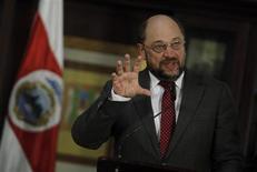 Il presidente del parlamento europeo Martin Schulz. REUTERS/Juan Carlos Ulate