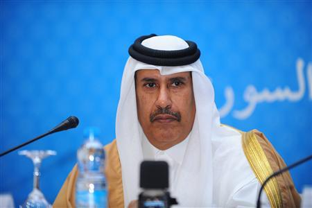 Qatar's Premier and Foreign Minister Sheikh Hamad bin Jassem attends a ''Friends of Syria'' group conference in Marrakech December 12, 2012. REUTERS/Abderrahmane Mokhtari
