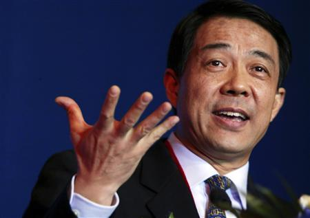 Bo Xilai, then Governor of Liaoning Province, gestures as he delivers a speech at the China Entrepreneur Annual Meeting in Beijing, in this December 7, 2003 file photo. Disgraced former senior Chinese leader Bo is refusing to cooperate with a government investigation into him and has staged hunger strikes in protest and at one point was treated in hospital, sources with knowledge of the matter said. To match story CHINA-POLITICS/BO REUTERS/Jason Lee/Files