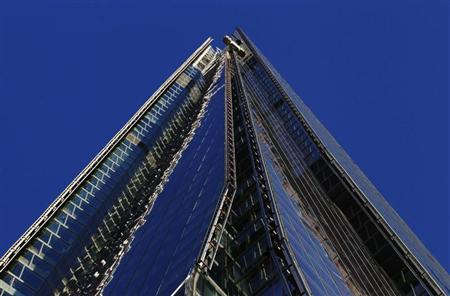 The Shard, western Europe's tallest building, is seen in London January 9, 2013. REUTERS/Luke Macgregor