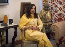 Sherry Rehman, Pakistan's ambassador to the U.S., speaks during an interview with Reuters in Islamabad July 5, 2012. REUTERS/Faisal Mahmood