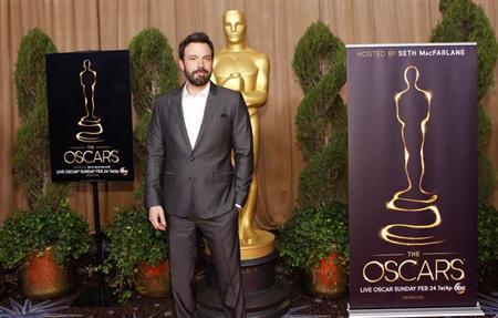 Director Ben Affleck, who's film 'Argo' is nominated for best picture, arrives at the 85th Academy Awards nominees luncheon in Beverly Hills, California February 4, 2013. REUTERS/Mario Anzuoni