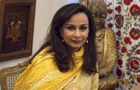 Sherry Rehman, Pakistan's ambassador to the U.S., smiles during an interview with Reuters in Islamabad July 5, 2012. REUTERS/Faisal Mahmood