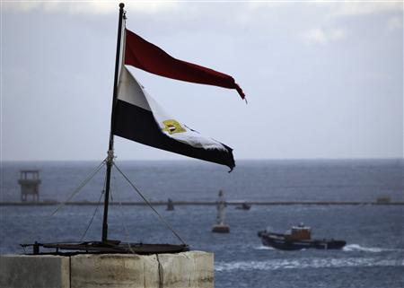 The Egyptian national flag flutters at Port Said, northeast of Cairo in this February 1, 2013 file photo. REUTERS/Amr Abdallah Dalsh/Files