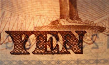 The word ''Yen'' is pictured on a Japanese bank note at Interbank Inc. money exchange in Tokyo, in this September 9, 2010 picture illustration. REUTERS/Yuriko Nakao