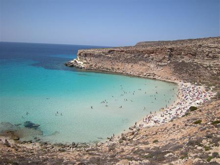 Rabbit Beach in Lampedusa, Italy, in an undated photo. A remote beach in Italy was named on Thursday as the best beach in the world by a survey of travellers, while a UK beach managed to sneak into the top 10. REUTERS/PRNewsFoto/TripAdvisor