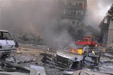 Un attentat à la voiture piégée a fait une cinquantaine de morts et plus de 200 blessés jeudi dans le centre de Damas, sur un boulevard fréquenté proche du siège du parti Baas au pouvoir et de l'ambassade de Russie. /Photo prise le 21 février 2013/REUTERS/Sana