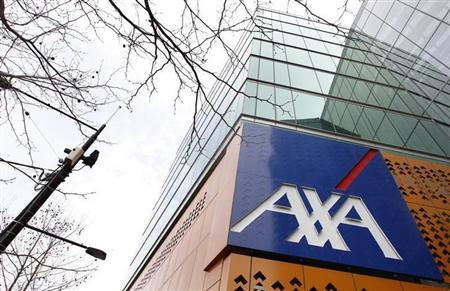 The AXA Asia Pacific logo sign is seen. REUTERS/Mick Tsikas (AUSTRALIA - Tags: BUSINESS)
