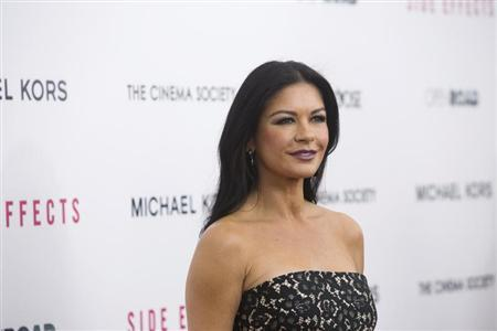 Cast member Catherine Zeta-Jones attends the premiere of the film ''Side Effects'' in New York January 31, 2013. REUTERS/Andrew Kelly