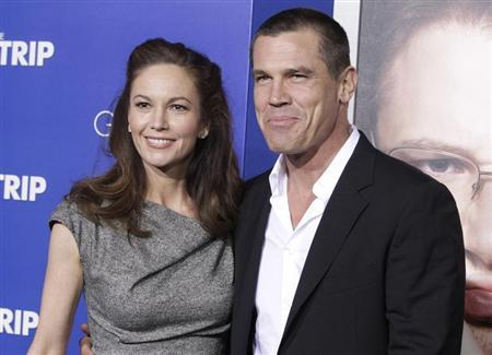 Actors Josh Brolin and wife Diane Lane pose as they arrive for the premiere of the new film ''The Guilt Trip'' starring Barbra Streisand and Seth Rogen in Los Angeles December 11, 2012. REUTERS/Fred Prouser