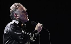British singer-songwriter Morrissey performs during the International Song Festival in Vina del Mar city, about 121 km (75 miles) northwest of Santiago February 24, 2012. REUTERS/Eliseo Fernandez