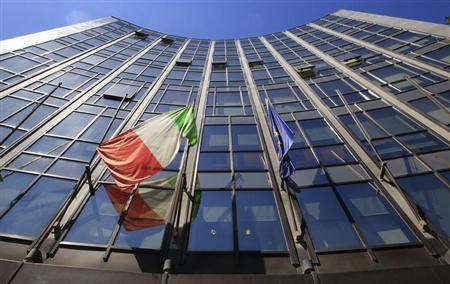 The headquarters of Italian defence and aerospace company Finmeccanica is seen in Rome May 3, 2012. REUTERS/Max Rossi/Files