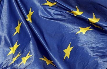 The European flag is seen on the top of the Bordeaux city hall, February 19, 2013. REUTERS/Regis Duvignau