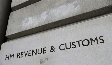 The name is engraved into the stone on the entrance to the HM Revenue & Customs building in Whitehall, central London December 14, 2012. REUTERS/Suzanne Plunkett BRITAIN