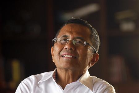 Indonesian State-Owned Enterprises Minister Dahlan Iskan speaks in an interview in his office in Jakarta February 2, 2012. REUTERS/Supri