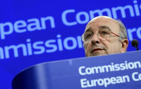 European Union Competition Commissioner Joaquin Almunia holds a news conference on the proposed merger between United Parcel Service Inc and TNT Express in Brussels January 30, 2013. REUTERS/Yves Herman