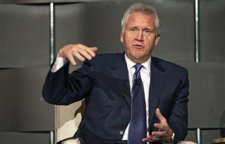 Jeffrey Immelt, Chairman and CEO of General Electric, speaks at the 2012 Simon Graduate School of Business' New York City Conference in New York, May 3, 2012. REUTERS/Keith Bedford/Files