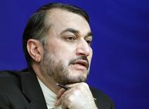 Iran's Deputy Foreign Minister Hossein Amir-Abdollahian speaks during a news conference in Moscow December 18, 2012. REUTERS/Maxim Shemetov