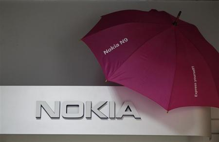 Picture shows a Nokia logo at a shop in Warsaw, January 26, 2012. REUTERS/Kacper Pempel (