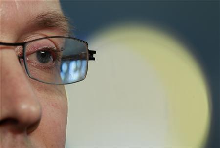 European Central Bank (ECB) Executive Board member Joerg Asmussen attends an interview with Reuters in Berlin, February 22, 2013. REUTERS/Pawel Kopczynski